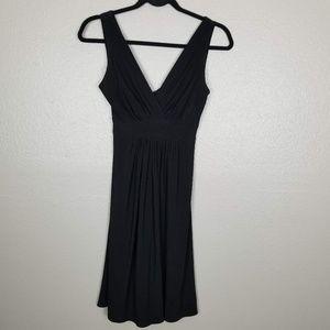 B.Darlin Black Empire Faux Wrap Party Dress 3/4